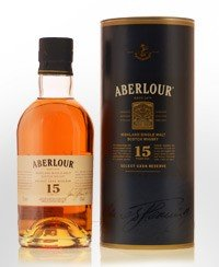 Aberlour. Single Malt Scotch Whisky 15 year old.