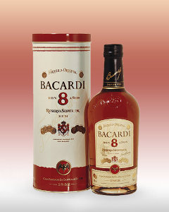 Bacardi 8 metal box